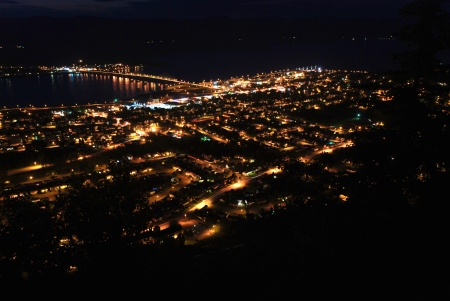 Campbellton at Night. Click to enlarge.
