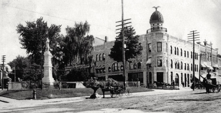 Malone, New York. 1907. Miss Ethier was born in this town seven years after this photo was taken.