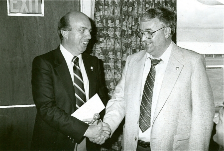 Broadcasters Peter Maher and Don Hume