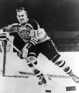 1960 - Gerry Ouellette of the Boston Bruins. Photo courtesy of the Boston Bruins Hockey Club.