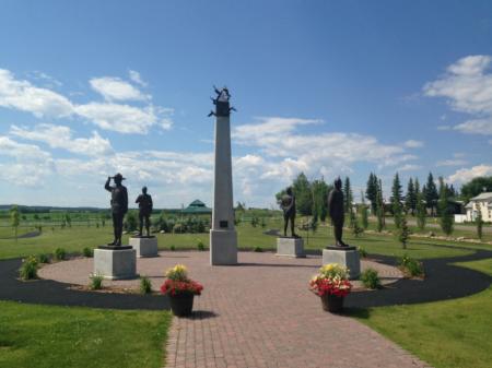 Monument to the Fallen Four at Mayerthorpe, Alberta.
