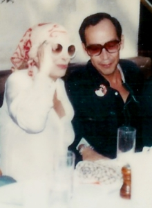 Pastor Valle-Garay [right] with Greek actress, singer and politician Melina Mercouri at a fund-raiser in Toronto in August 1979.