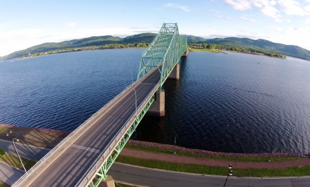 What shots of Campbellton would be complete without the Charles Van Horne Bridge?