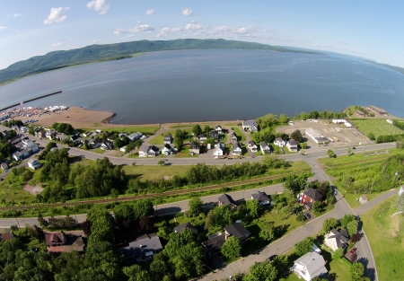Looking east towards the Restigouche Estuary [which empties into the Bay of Chaleur].