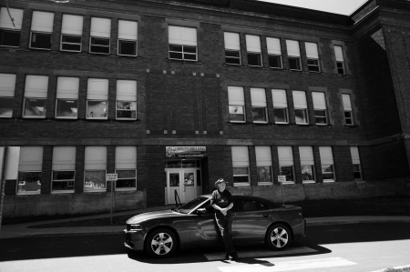 When I return to [the former] Campbellton Composite High School, I hear a clock ticking. [Photo: Marilyn Burns]